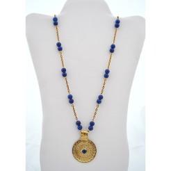 Royal Blue Alabaster Medallion