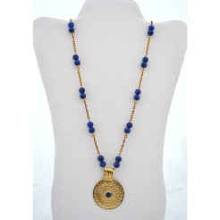 Royal Blue Alabaster Medallion