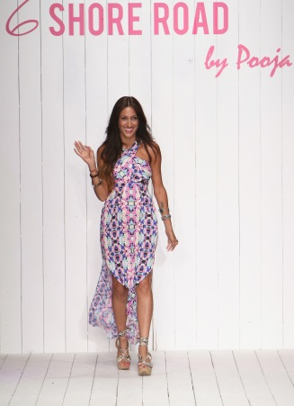 MIAMI BEACH, FL - JULY 17: Designer Pooja Kharbanda walks the runway at the 6 Shore Road by Pooja Resort 2016 collection during FUNKSHION: Fashion Week Miami Beach Swim at the FUNKSHION Tent on July 17, 2015 in Miami Beach, Florida. (Photo by John Parra/Getty Images for 6 Shore Road by Pooja)