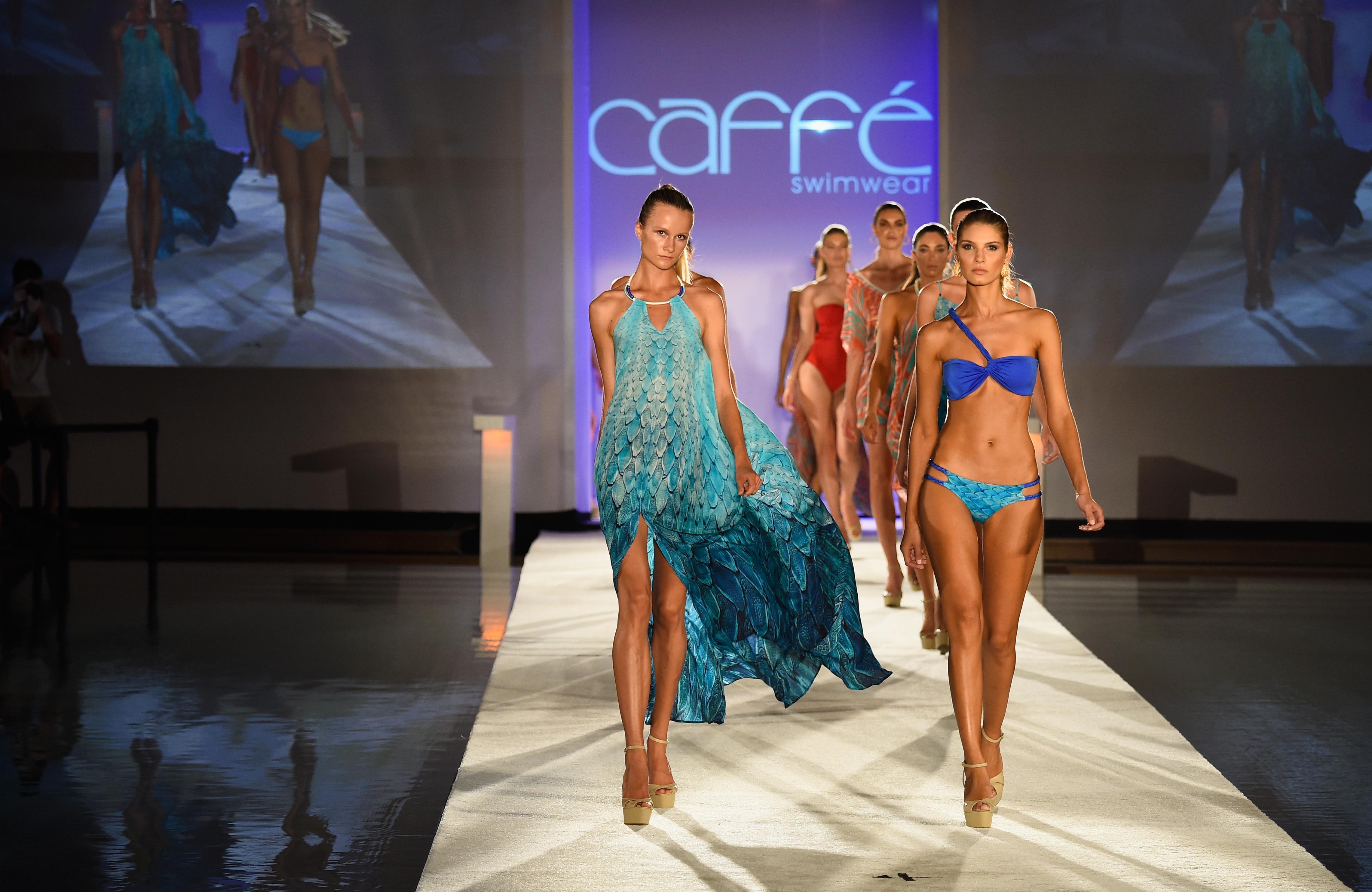 Caffe swimwear runway show for Florida pool show 2015